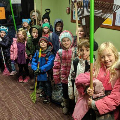 2019-10 Service Day - Leaf Raking Elementary