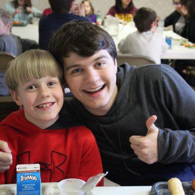 Lunch buddy Beau