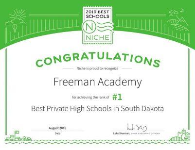 Ranked #1 Private K-12 School in South Dakota